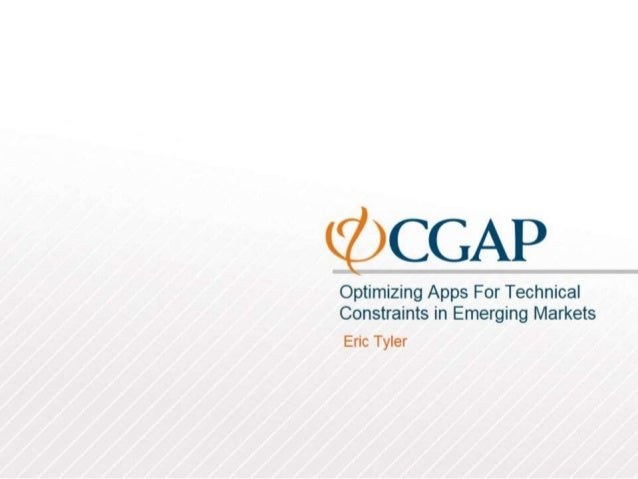 Optimizing Apps for Technical Constraints in Emerging Markets