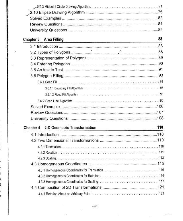 Computer Graphics Notes (B.Tech, KUK, MDU) Slide 3