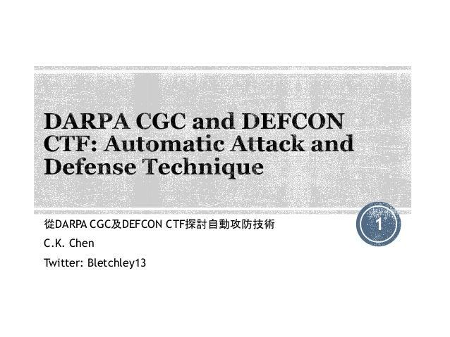DARPA CGC and DEFCON CTF: Automatic Attack and Defense Technique
