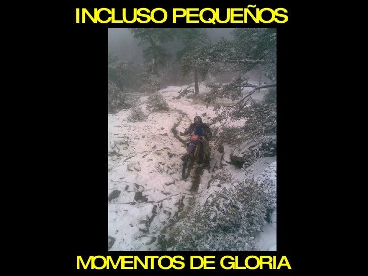 INCLUSO PEQUEÑOS MOMENTOS DE GLORIA