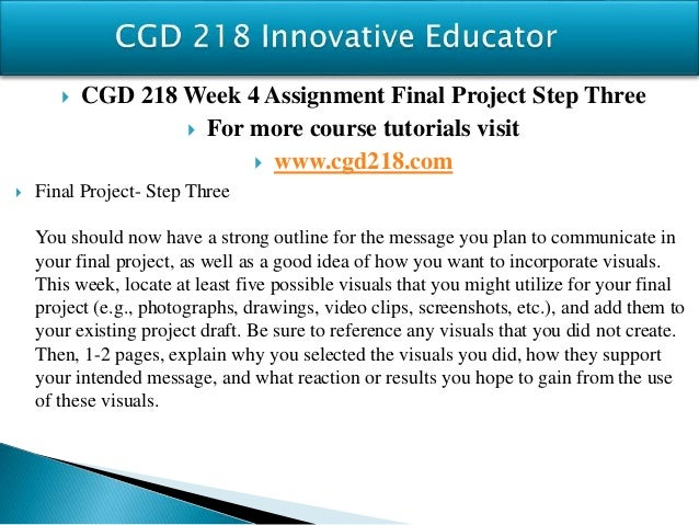 cgd 218 week 2 assignment