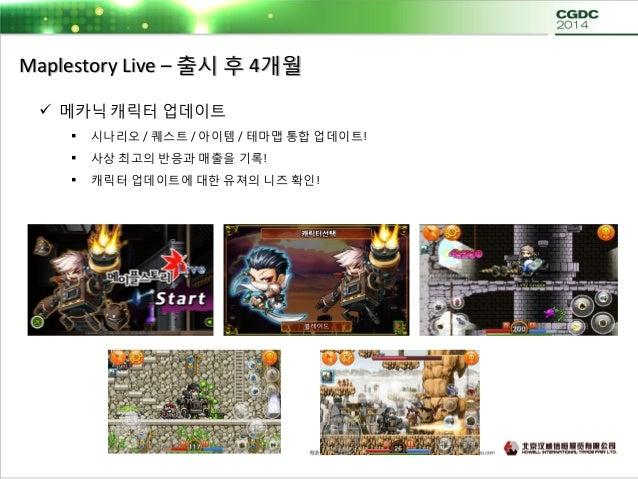 Maplestory Live – 출시 후 4개월