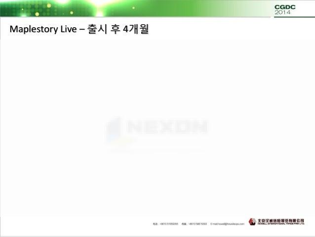 Maplestory Live – 지속적인 라이브 서비스  아트 퀄리티 업그레이드  PC온라인 리소스 100% 비율로 사용 – 기존비율 70%  UI / 캐릭터 / 이펙트 퀄리티 업그레이드  기존 유져에게 보상차원...
