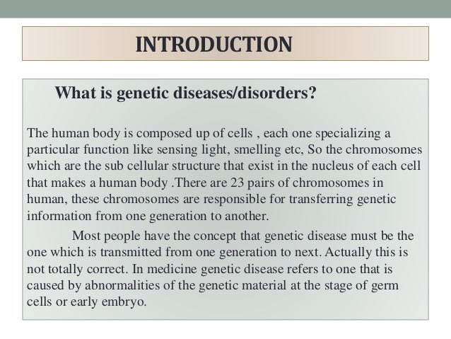 Genetic diseases research papers