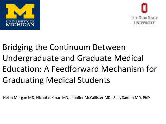 Bridging the Continuum Between Undergraduate and Graduate Medical Education: A Feedforward Mechanism for Graduating Medica...
