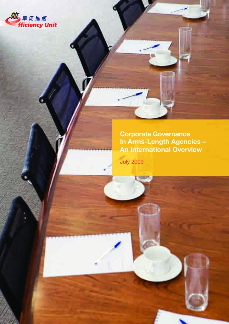 Corporate Governance In Arms-Length Agencies – An International Overview July 2009