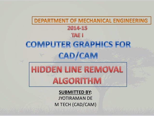 Line Drawing Algorithm In Computer Graphics Slideshare : Computer graphics hidden line removal algorithm