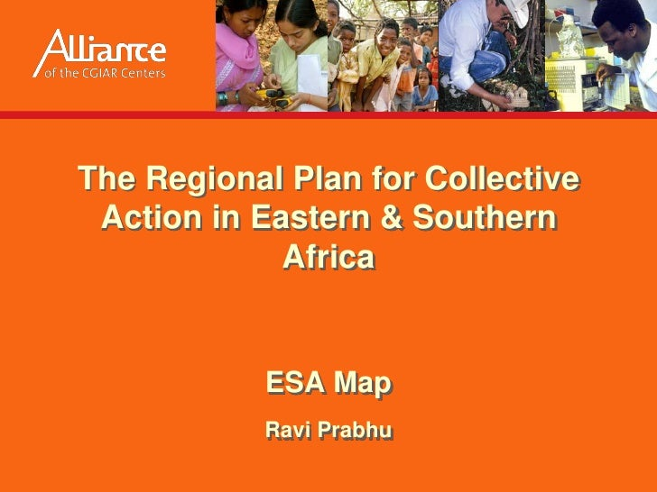 The Regional Plan for Collective  Action in Eastern & Southern              Africa              ESA Map            Ravi Pr...