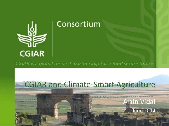 CGIAR and Climate-Smart Agriculture Alain Vidal June 2014 Photo:A.Vidal