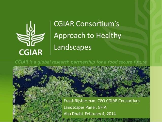 CGIAR Consortium's Approach to Healthy Landscapes  Photo: Neil Palmer/CIAT  Frank Rijsberman, CEO CGIAR Consortium Landsca...