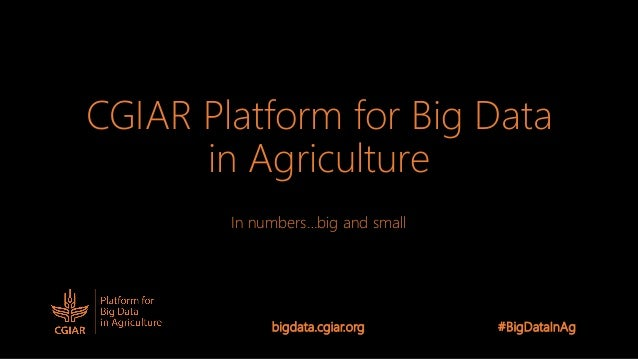 CGIAR Platform for Big Data in Agriculture