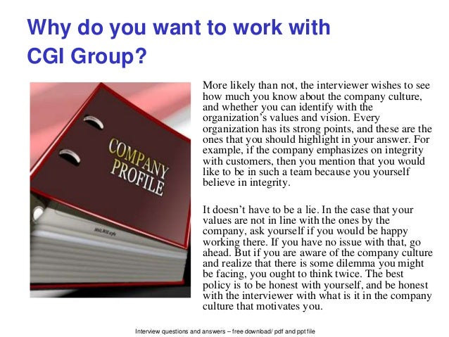 Cgi group interview questions and answers