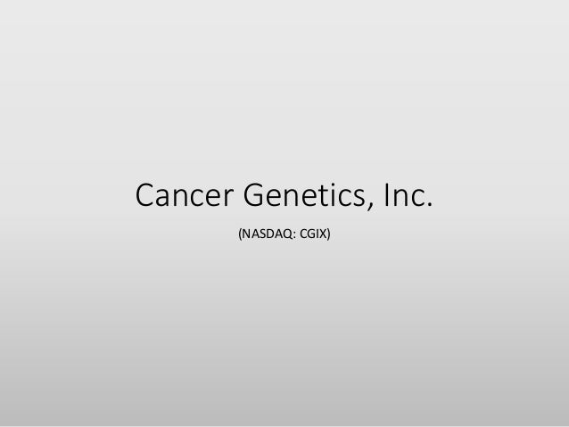 Cancer Genetics, Inc. (NASDAQ: CGIX)