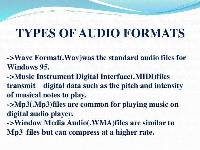 how to change audio format