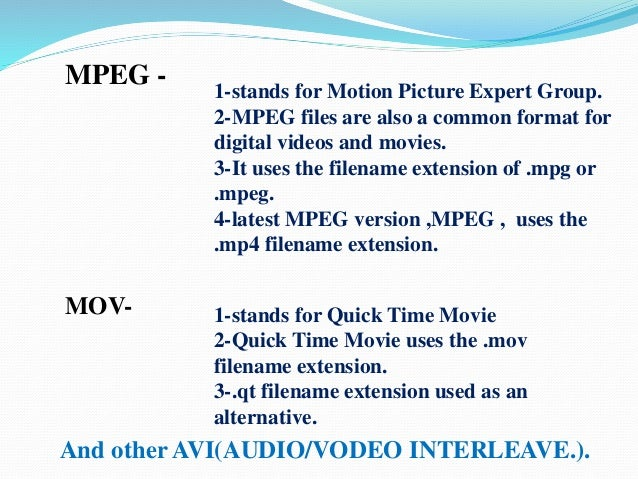 Multimedia data and file format