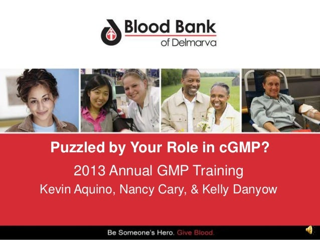 Puzzled by Your Role in cGMP? 2013 Annual GMP Training Kevin Aquino, Nancy Cary, & Kelly Danyow