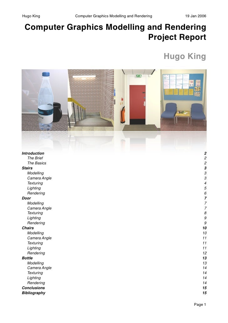 Hugo King           Computer Graphics Modelling and Rendering       19 Jan 2006    Computer Graphics Modelling and Renderi...