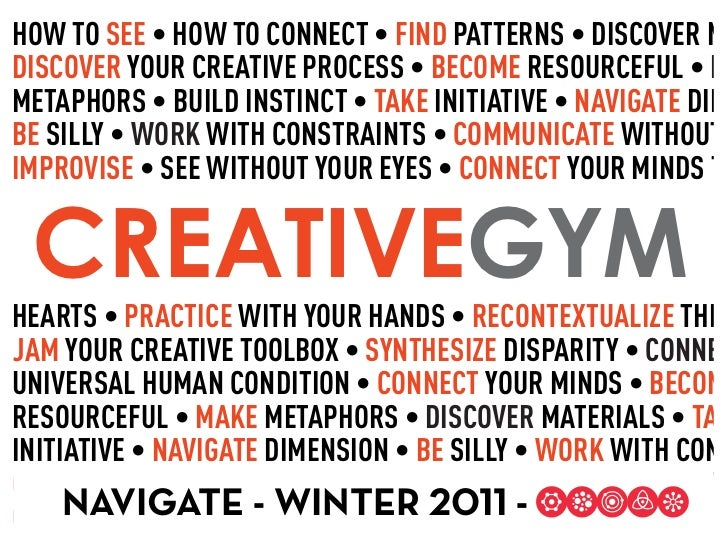 HOW TO SEEBE CREATIVEGYM                            R                                TA                       BE     NAVIG...