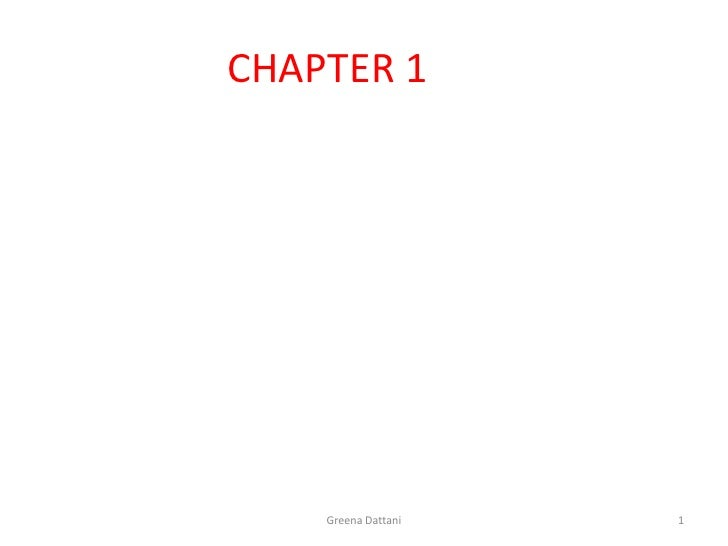 CHAPTER 1    Greena Dattani   1