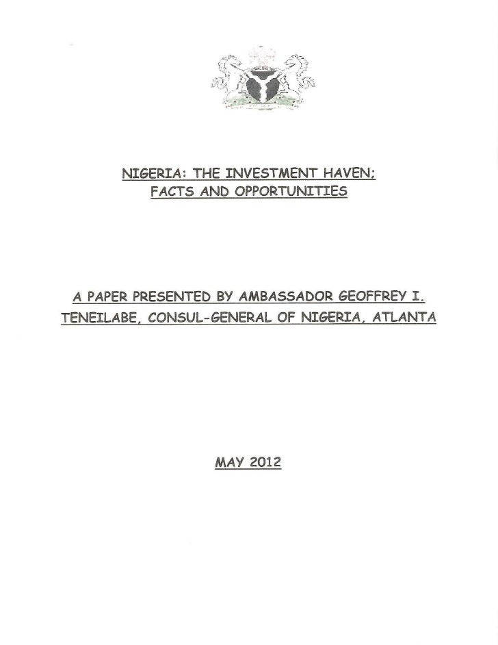 Nigeria: The Investment Haven