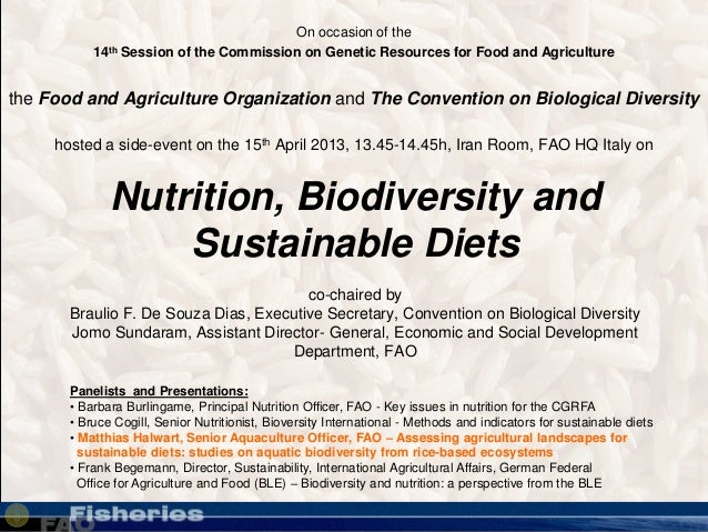 www.pixelquelle.deNutrition, Biodiversity andSustainable Dietsco-chaired byBraulio F. De Souza Dias, Executive Secretary, ...