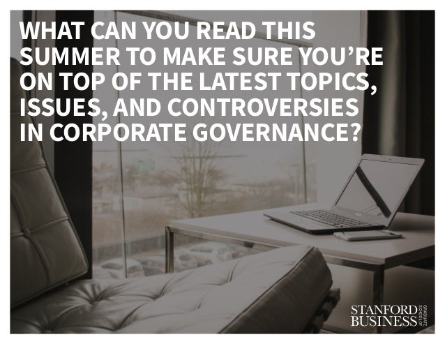 Stay Up To Date on the Latest Happenings in the Boardroom: Recommended Summer Reading Slide 3