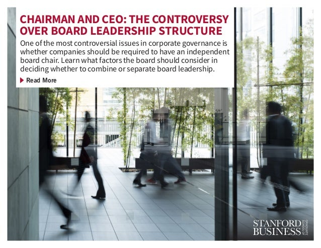 One of the most controversial issues in corporate governance is whether companies should be required to have an independen...