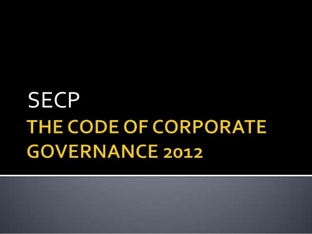 code of corporate governance 2012