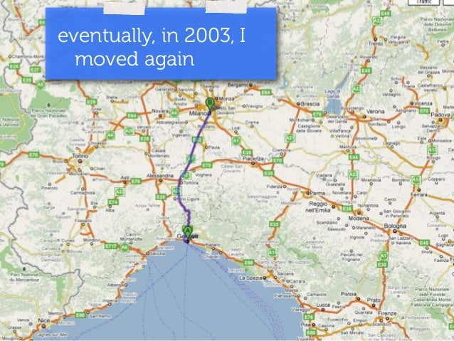 eventually, in 2003, I  moved again
