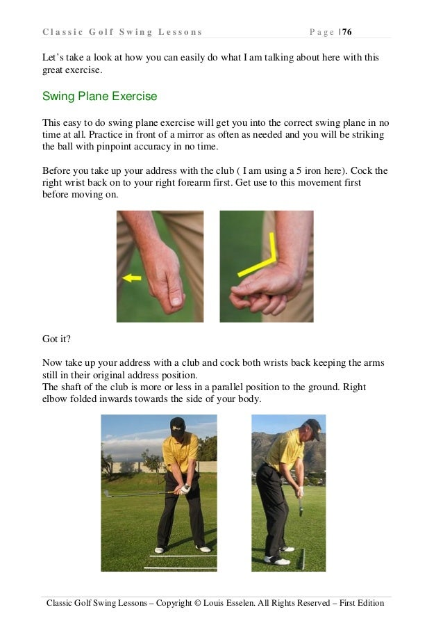 Classic Golf Swing Lessons - Improve golfing techniques