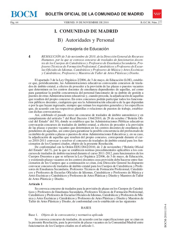 BOCM                   BOLETÍN OFICIAL DE LA COMUNIDAD DE MADRIDPág. 64                               VIERNES 19 DE NOVIEM...