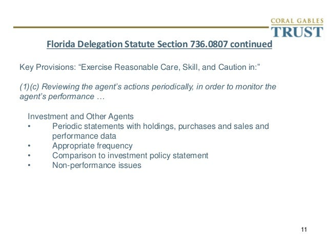 presentation on florida delegated trust statute