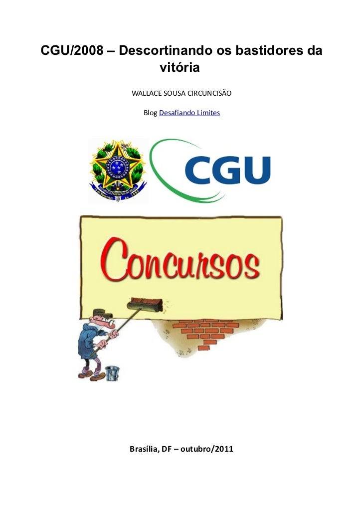 CGU/2008 – Descortinando os bastidores da                vitória             WALLACE SOUSA CIRCUNCISÃO               Blog ...
