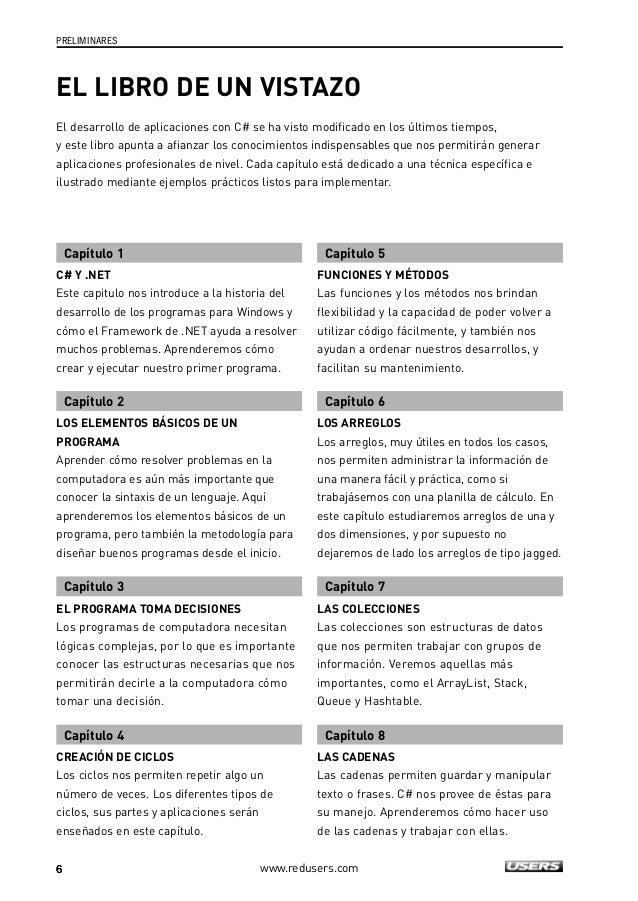 INFORMACIÓN COMPLEMENTARIA  ATENCIÓN SITIOS WEB  www.redusers.com  El libro de un vistazo  7  Capítulo 9  ESTRUCTURAS Y EN...