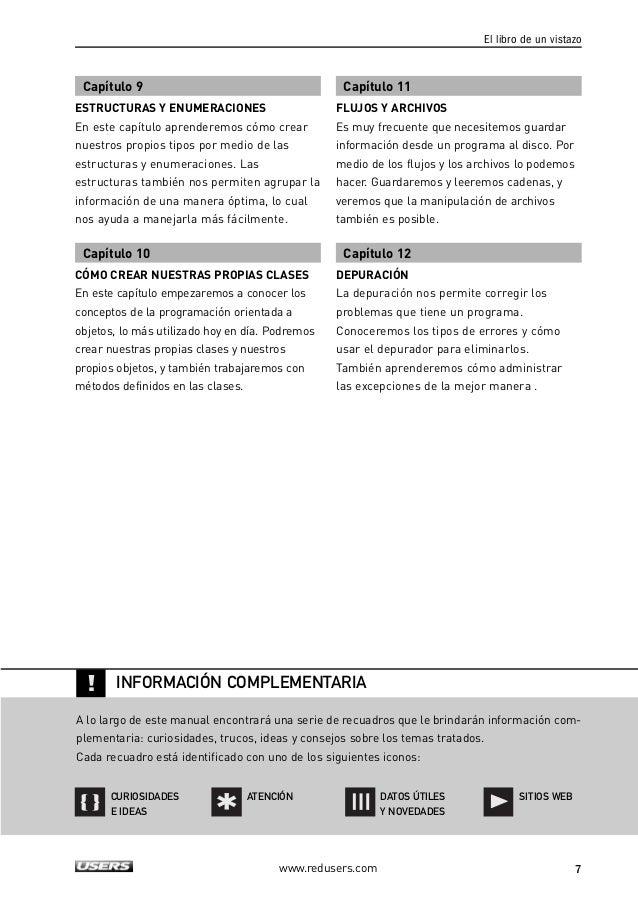 PRELIMINARES  Sobre el autor 4  Prólogo 5  El libro de un vistazo 6  Introducción 12  Capítulo 1  C# Y .NET  Breve histori...