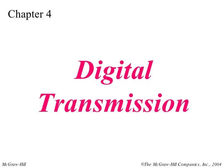 Chapter 4 Digital Transmission