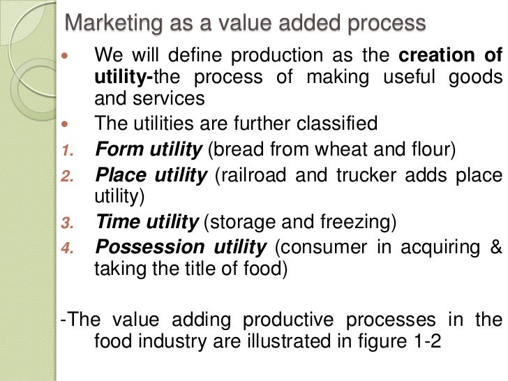 chapter one of agricultural marketing