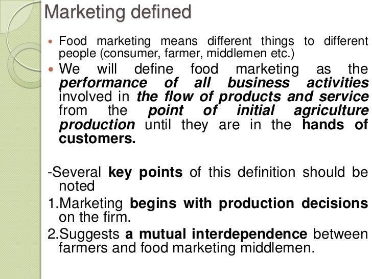 Definition of food advertising marketing essay