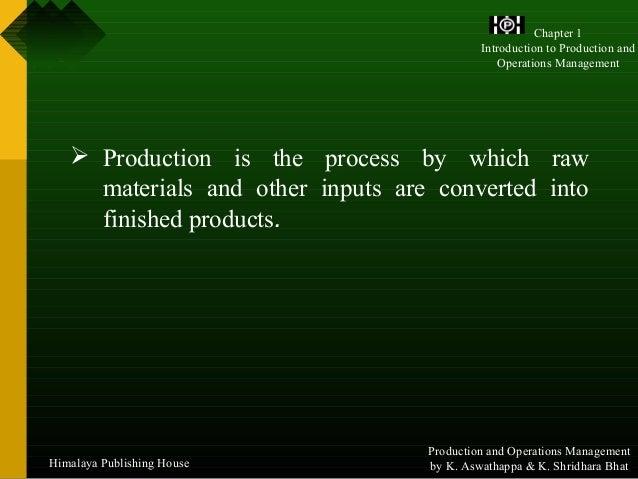 Production and operations management ebook download pdf