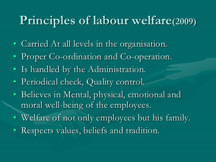 Employee Welfare Service: Principle and Types