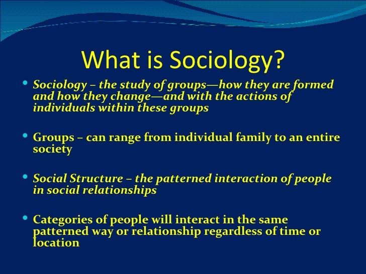 Ch 1 Whats Sociology