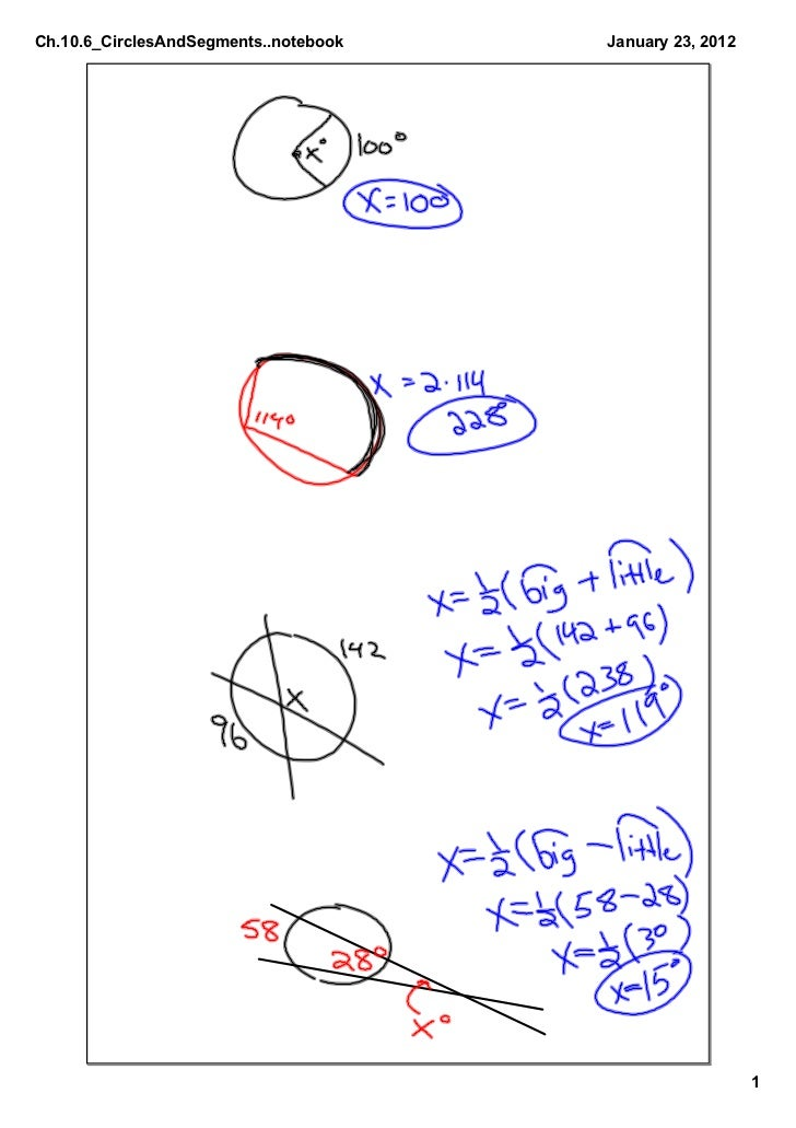 Ch.10.6_CirclesAndSegments..notebook   January23,2012                                                          1