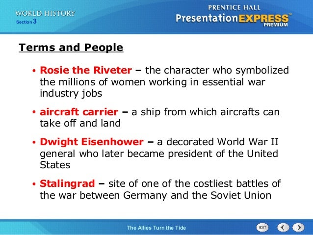 ch 17 section 3 the allies turn the tide rh slideshare net Allied Powers WW2 WW2 Victory