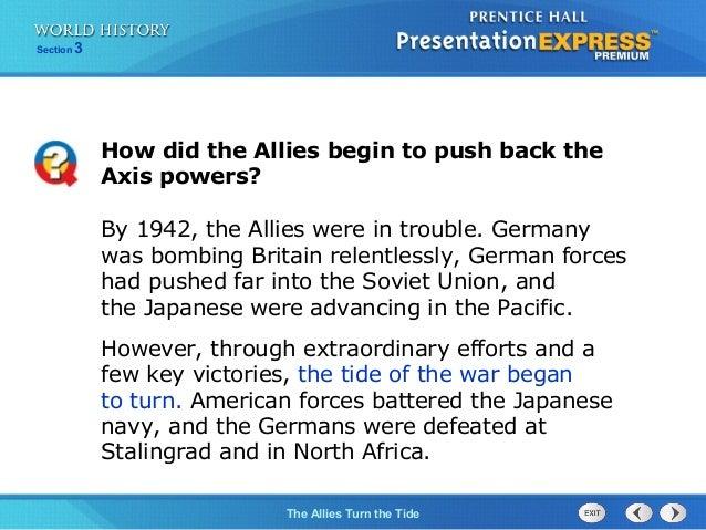 ch 17 section 3 the allies turn the tide rh slideshare net Allied Powers WW2 Allied Powers WW2