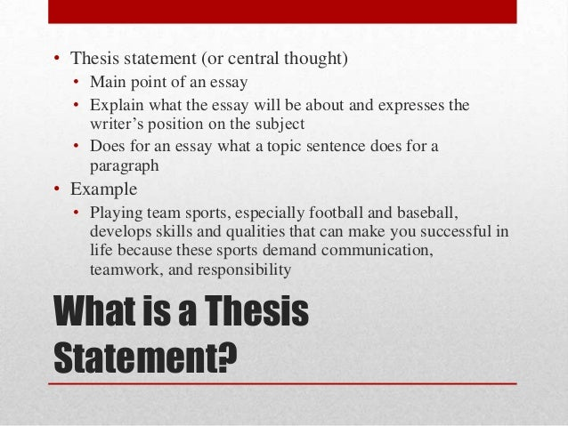 Ch  Developing And Supporting A Thesis   Thesis Statement