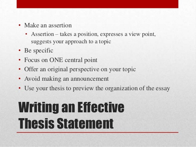 difference between thesis and assertion