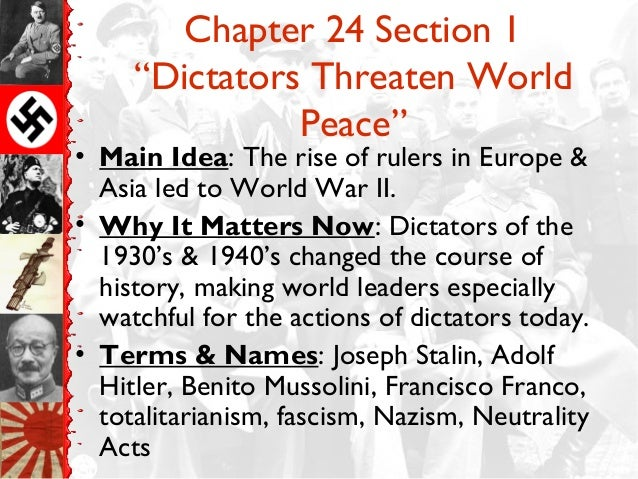 chapter 28 the rise of totalitarianism section 1 2 essay Solutions in world history: the modern world (california) (9780131299771) more spanish latin french more languages world section 1 assessment: p202: 62.