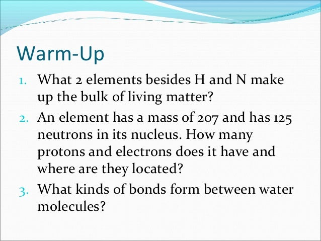 Anatomy & Physiology Lecture Notes - Ch  2 chemistry- part 2