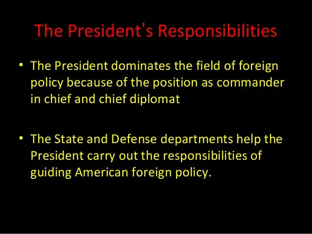 foreign and defense policy The foreign policy of the united  each has signed a compact of free association that gives the united states exclusive military access in return for us defense .