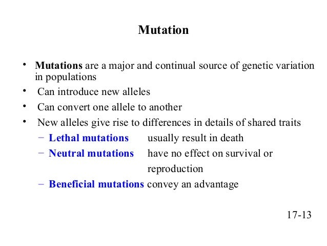 Are Mutations Are The Driving Force Of Natural Selection